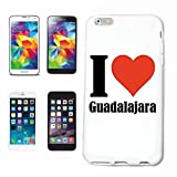 Reifen-Markt Hard Cover - Funda para teléfono móvil Compatible con Apple iPhone 7 I Love Guadalajara