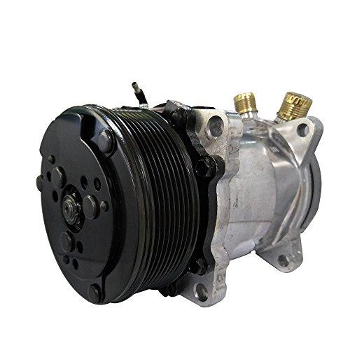Universal A/C Compressor with PV8 Clutch SD 508 5H14 R134A 12V Serpentine Belt Type
