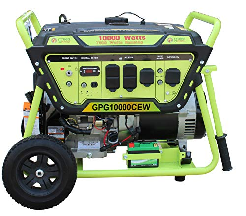 Green-Power America GPG10000CEW Pro Series Electric/Recoil Start Generator-10,000 Watts