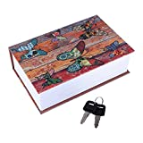 Wchiuoe Safe Dictionary Box Lock Book Security Lock Dictionary Storage Box(Butterfly)