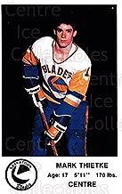 (CI) Mark Thietke Hockey Card 1983-84 Saskatoon Blades 24 Mark Thietke