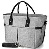 KIPBELIF Insulated Lunch Bags for Women - Large Tote Adult Lunch Box for Women with Should...