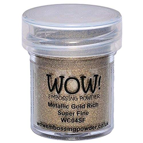 Wow Embossing Powder Wow! Embossing-Puder, sehr fein, 15 ml, Gold Rich