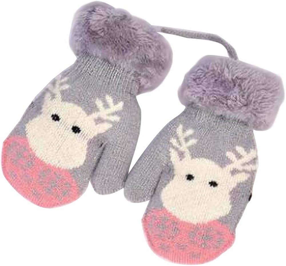 Lovely Knitted Baby Mittens Warm Winter Children Mittens Baby Gloves #17