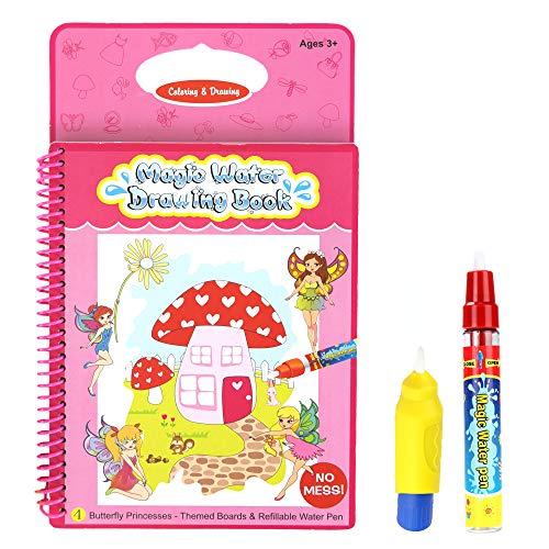 Butterfly Princess Aqua Magic Travel Doodle Acqua Disegno Attività di colorazione Libro riutilizzabile a più colori con due penne magiche per bambini 2 anni più prodotti Rangebow di qualità (GC00607)