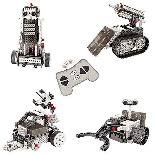 Think Gizmos Set Esploratore Spaziale - Costruzioni per Bambini – Kit con 4 Modelli di Giochi Bambini da Cos-truire - Robot Giocattolo Bambini – 2 Rover Lunari – Razzo Spaziale – TG801