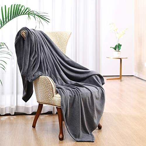 Throw Blankets for Couch Sofa Tahdtew Fleece Blankets Super Soft Lightweight Microfiber Grey product image