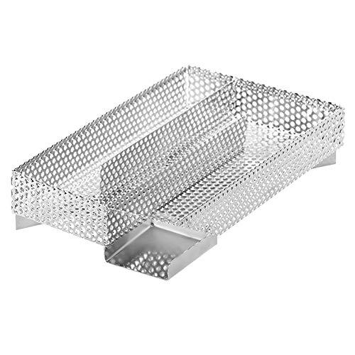 Pissente rookgenerator, koude rookontwikkeling, van roestvrij staal, voor camping, party, tuin, 20,5 x 20,5 x 4,5 cm