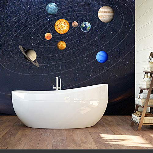 cheerfullus Glow in The Dark Planet Wall Stickers 9 Planets Solar System Wall Decals Luminous Wall Sticker Art Wall Decor for Kids Bedroom Living Room