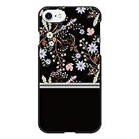 Ruuu Galaxy S21+ 5G SCG10 ハード スマートフォン スマホ ケース カバー 花柄 ブラック はながら ボタニカル 花 バイカラー かわいい 可愛い 大人 黒 おしゃれ ユニーク 個性的 軽量 携帯カバー