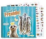 Libro de amigos escolar para niños y niñas [suricato] Tapa dura álbum de poesía con cariño y divertido – con pegatinas coloridas de Lernfreunde by Häfft | sostenible y climáticamente neutral