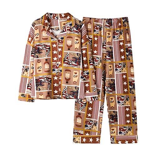 LLSS Ropa de Dormir de algodón Pijamas de Manga Larga para Mujeres Ropa de hogar Ropa de Dormir Salón de Ocio Paño para el hogar M-3XL