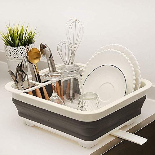 Opvouwbaar keukenrek droogrek met draaibare stang voor keukenbar camper, waterfilter