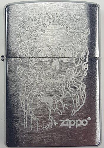 Zippo ZIPPO Sturmfeuerzeug, Benzinfeuerzeug, Feuerzeug (Totenkopf II) Totenkopf Ii