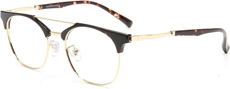 Firmoo Classic Metal Retro bluee Light Blocking RX Clear Reading Glasses