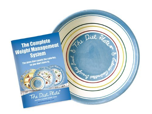 'The Diet Plate' Portion Control Calorie Counting Bowl for Cereal and Soup.