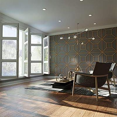 "Ekena Millwork WALW24X24X0375MARWA Marion 3/8""T Decorative Fretwork Wall Panels, 23 3/8""W X 23 3/8""H, Walnut"