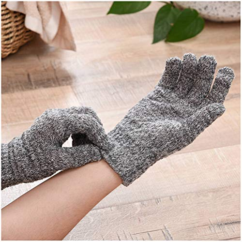 1 Paires Double Sided Exfoliating Gloves Body Scrubber Scrubbing Glove Bath Mitts Scrubs for Shower, Body Spa Massage Dead Skin Cell Remover, Gray