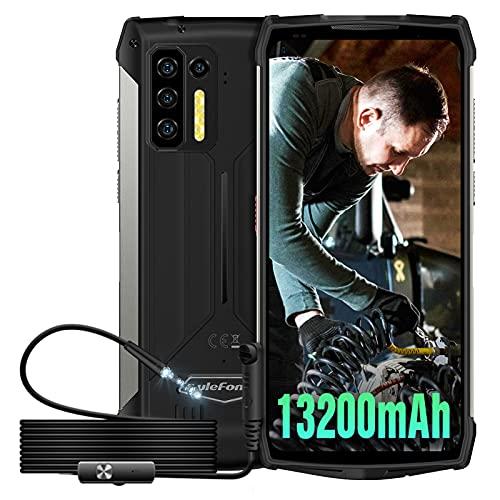Rugged Smartphone 2021, Ulefone Power Armor 13 & Endoscopio, 13200mAh mAh Batteria, 8GB+256GB, 6.81  FHD+, 48MP Fotocamera, Android 11 IP68 Cellulare Antiurto, NFC OTG GPS Dual SIM Telefono-Nero