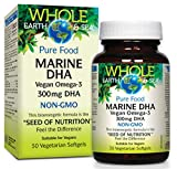 Whole Earth & Sea Marine DHA Vegan Omega-3 300mg DHA Natural Factors 30 Softgel
