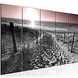 Bild Strand Sonnenuntergang Kunstdruck Vlies Leinwandbild