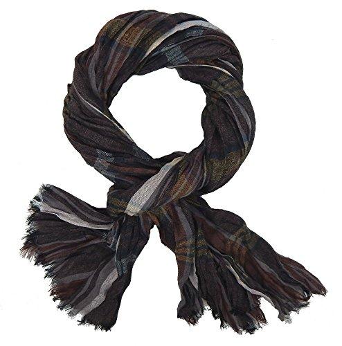 Ella Jonte Écharpes foulard d'homme élégant et tendance de la dernière collection by Casual-style marron gris noir