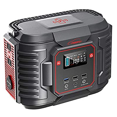 YABER Portable Power Station, 266.4Wh 72000mAh Battery-Powered Generators 110V/300W AC Outlet, Solar Generator with PD 60W | Wireless Charge | QC3.0 Backup Power for RV/Van Camping Home Emergency