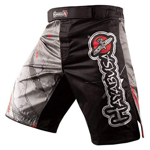 HAOXUAN Herren Gym Workout Boxshorts Muay Thai Shorts Laufen Kurze Hosen Fitted Training Bodybuilding Jogger Short,3,XXL