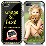 AIPNIS Custom Case for Apple iPhone 7/8/se 2020,Personalized Photo Gift Shock Absorption Glass Cover DIY HD Picture