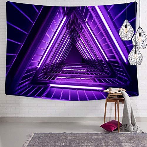 2183 Tapices de triángulos morados para montar en la pared, divertidos tapices para el hogar, tapices suaves para cama o sala de dibujo, 130 x 130 cm