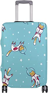 Mydaily Astronaut Space Cat Luggage Cover Fits 18-32 Inch Suitcase Spandex Travel Baggage Protector
