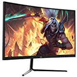 FIODIO 27' Curved 75Hz LED Monitor Full HD 1080P HDMI VGA Ports with Speakers, VESA...