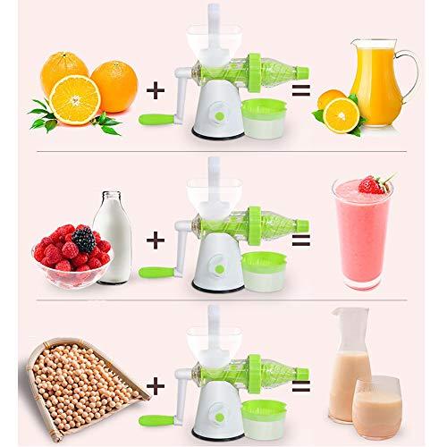 RBTT Handschütteln Fruchtsaft tragbar mit Apfeltraubensafe-Maschine Multifunktionale Karotten-Saftwerkzeug zu Hause Mandatory Food Qualität 350 × 110 × 220 mm