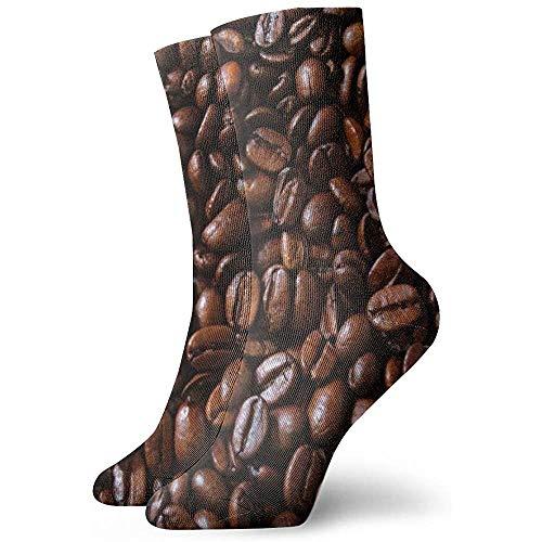 Tammy Jear Kaffeebohnenmuster Frauen Männer Crew Socken rutschfeste Schuhe Liner für Zug