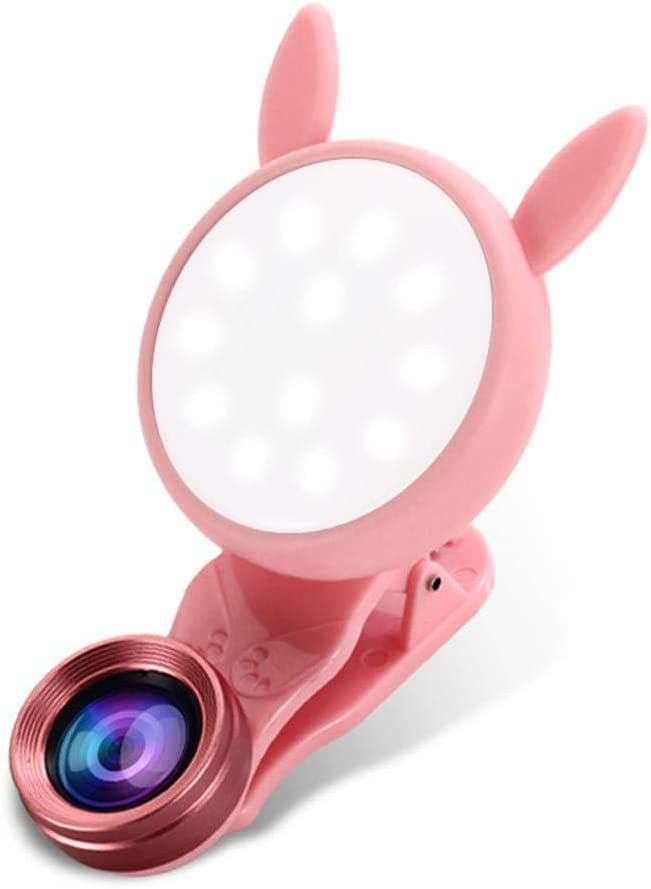 Goodfans General 3 in 1 Cell Phone Camera Lens with Full LED Light Kit On-Camera Video Lights