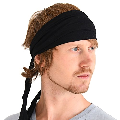 Mens Kundalini Headwrap Scarf Headband - Tied Headbands For Women Japanese Pirate Head Wrap
