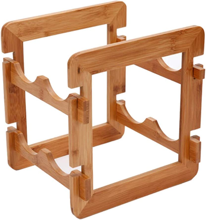 BINGFANG-W Creative Disassembly Deluxe Bamboo Decorative Rack Wine Indefinitely
