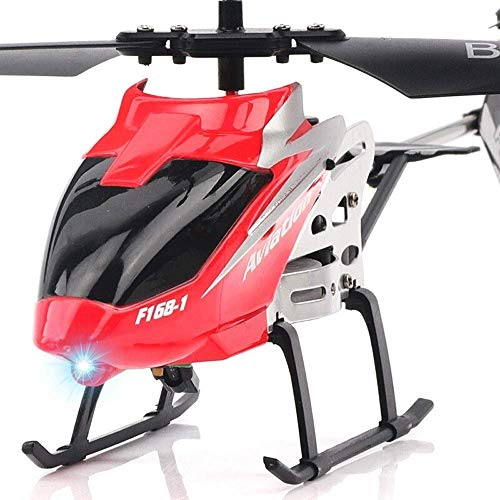 RC Remote Control Helicopter Aircraft Toys Airplane Mini Alloy Channel 2.5 Channels Gyro Built-in Remote Drone Radio Remote Control Airplane, Indoor And Outdoor Can Play Red