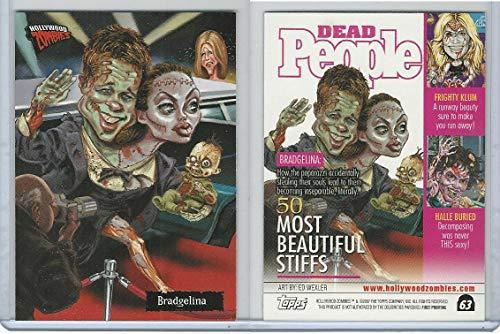 2007 Topps, Hollywood Zombies, 63 Brad Pitt & Jolie Angelina