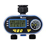 Yardeen Dual Outlet Electronic Water Timer Irrigation Controller System Color Blue