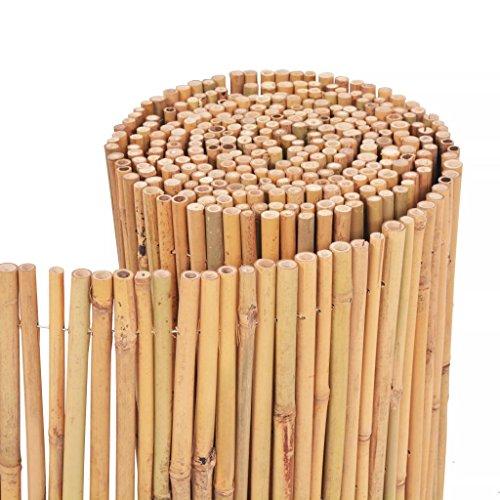 Tidyard Gartenzaun Bambuszaun Runder Bambus Dekorativer Gartenabgrenzung Gartendekor Zaun 500 x 30 cm