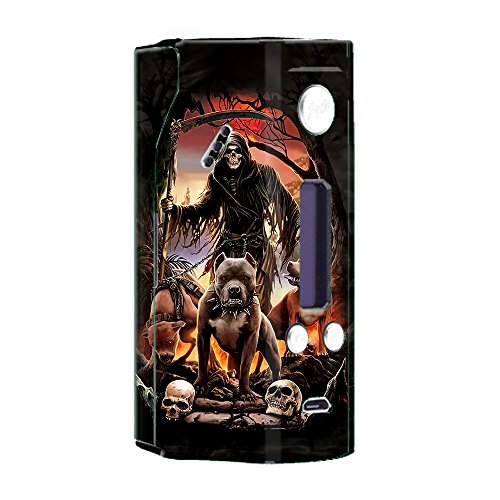 Skin Decal Vinyl Wrap for Wismec Reuleaux RX200 Vape Mod Skins Stickers Cover / Grim Reaper Pitbull Skulls