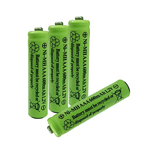 AAA Nimh 600mAh 1.2v Rechargeable Battery for Outdoor Solar Lights Garden Lamp(4 Pack)