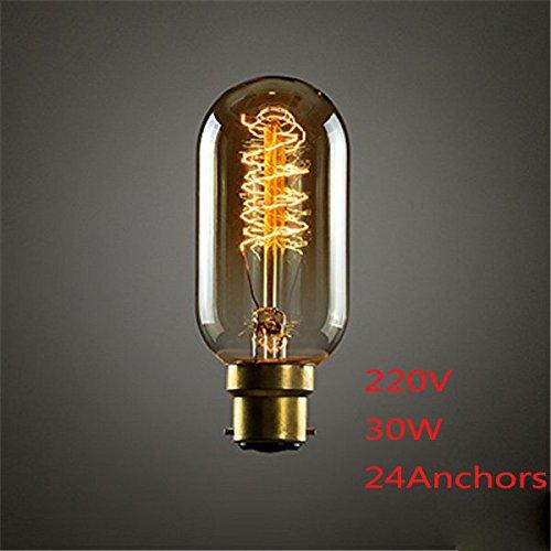 Bazaar B22 30W T45 24Anchors 150lm Edison Glow Vintage Designer eekhoorn Steampunk Tungsten lamp 220V