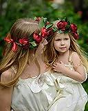 Simsly Boho - Ghirlanda floreale con rose e ghirlanda per matrimonio per donne e ragazze