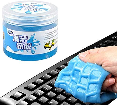 Teclado Limpiador, Limpiador Teclado Gel, Mágico Gel de Silicona Dust Cleaner, Para Ordenador PC Portátil Teléfono Móvil Control Remoto Tipo Escritor Coche (blue)