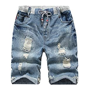 Boys' Ripped Frayed Pull-On Denim Shorts