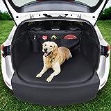 SYSTEMOTO Kofferraumschutz Hund mit Seitenschutz - Innovative Organizer Funktion - Universal Auto Kofferraum Hundedecke - Robuste Schutzmatte für Hunde (192 x 105 x 36)