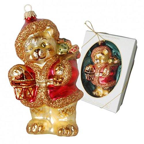 Schweizer Teddysanta mundgeblasen, traditionell liebevoll handdekoriert 13cm