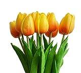 Turelifes - tulipani artificiali a stelo singolo, sembrano veri al tatto, in poliuretano, ...